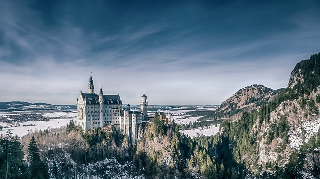 castle in the winter